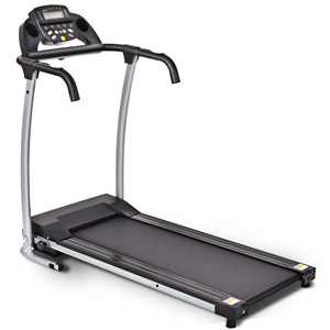 Costway 800W Folding Treadmill Electric Portable Motorized Power Running Fitness Machine with support