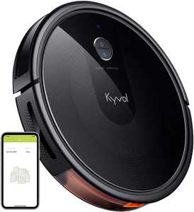 Kyvol Cybovac E30 Robot Vacuum Cleaner, 2200Pa Strong Suction,Works with Alexa, Robotic Vacuum Cleaner,150 mins Runtime, Wi-Fi Connected, Smart Navigation, Ideal for Pet Hair, Carpets & Hard Floors