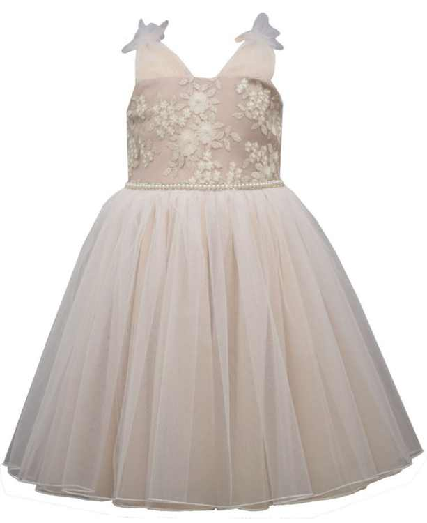 Toddler Girls Embroidered Bodice Dress