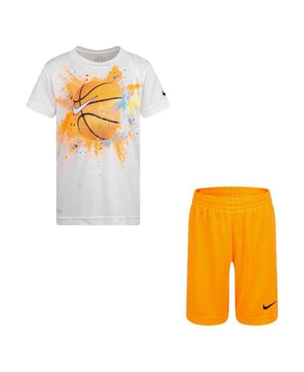 Toddler Boys Dri-Fit Sportballs T-shirt and Short Set, 2piece