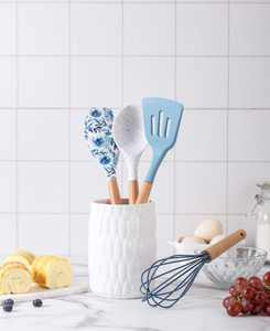Cook With Color 5-Pc. Nylon Utensil Set & Crock