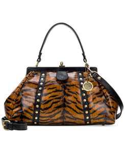 Nemoli V-Shape Leather Frame Bag