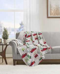 """Novelty Printed Heated Plush Throws, 50"""" x 60"""""""