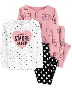 Baby Girls S'mores Cotton Pajamas Set