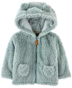 Baby Boys and Girls Zip-up Sherpa Jacket