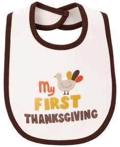 First Thanksgiving Teething Bib