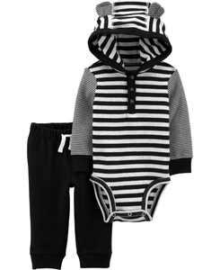 2-Piece Hooded Bodysuit Pant Set