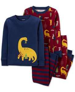 Toddler Boys Dinosaur Cotton Pajamas Set