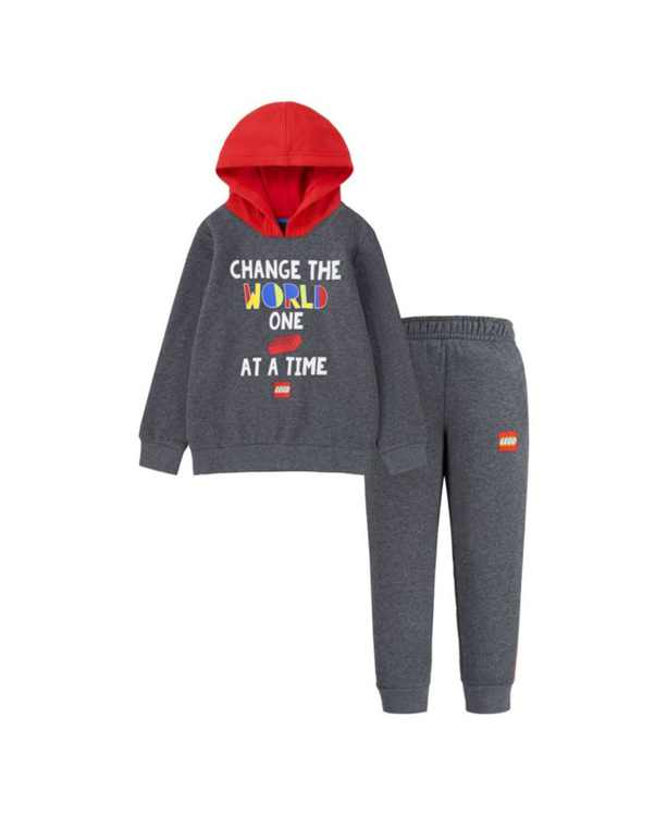 Little Boys Pullover Hoodie and Pants, 2 Piece Set