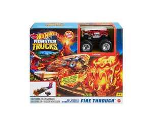 Monster Trucks Fire Through Playset