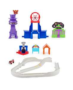 True Metal Total City Rescue Movie Track Set with Exclusive Marshall Vehicle 1:55 Scale Kids Toys for Ages 3 and up