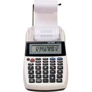 Victor 1205-4 12 Digit Portable Palm/Desktop Commercial Printing Calculator, Multi, Black, 1 Each (Quantity)