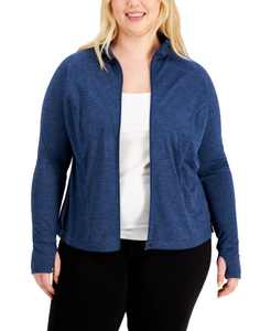 Plus Size Rapidry Performance Zip Jacket, Created for Macy's