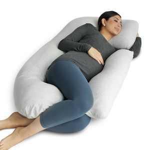 PharMeDoc Full Body Pregnancy Pillow - U Shaped Body Pillow - Maternity Pillow for Pregnant Women with Detachable Extension