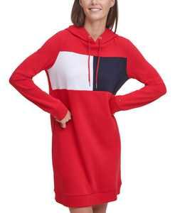 Logo Sweatshirt Hoodie Dress