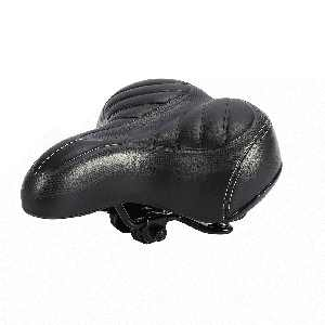 Qiilu Bicycle Saddle Seat Comfort Padded Bike Seat Wide Big Bum Sprung Bike Soft Cushion Replacement Bicycle Saddle Universal Fit For Outdoor Bikes For Women and Men
