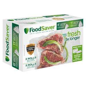 """FoodSaver 8""""& 11"""" Heat-Seal Rolls - FSFSBF0746-000"""