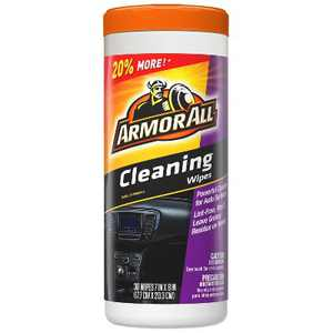Armor All 30ct Cleaning Wipes Automotive Interior Cleaner