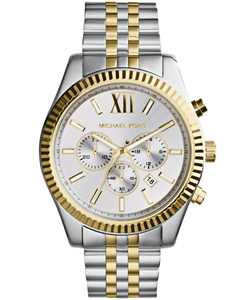 Men's Chronograph Lexington Two-Tone Stainless Steel Watch 45mm MK8344