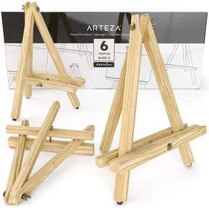 "Arteza 12"" Wooden Tripod Art Easel for Canvas, Artwork, Displays - 6 Pack (ARTZ-8668)"