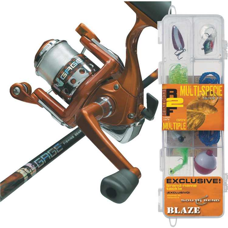 Generic Ready 2 Fish All Species Spinning Combo with Kit