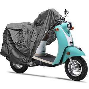 """Superior Travel Dust Motorcycle Scooter Moped Cover: Fits Up To Length 80"""" All Scooter + Compatible with Yamaha Honda Suzuki Kawasaki Ducati BMW Aprilia Triumph Buell Motorcycle Covers"""