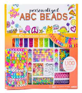 Just My Style ABC Beads by Horizon Group Usa, 1000+ Charms & Beads, Alphabet Charms, Accent Beads, Seed Beads, Star Beads, Wax Beading Cord, Satin Cord & Key Ring Included, Bright Multi-Color