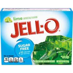 Jell-O Lime Sugar Free Gelatin Dessert Mix, 0.6 oz Box