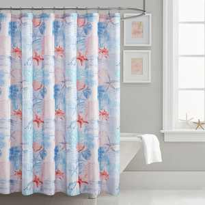 "Mainstays Coastal Printed 70"" x 72"" Fabric Shower Curtain"