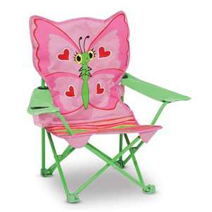 Melissa & Doug Sunny Patch Bella Butterfly Outdoor Folding Lawn and Camping Chair with Carrying Case