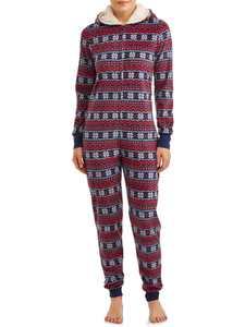 Matching Family Christmas Pajamas Women's and Women's Plus Fairisle Union Suit