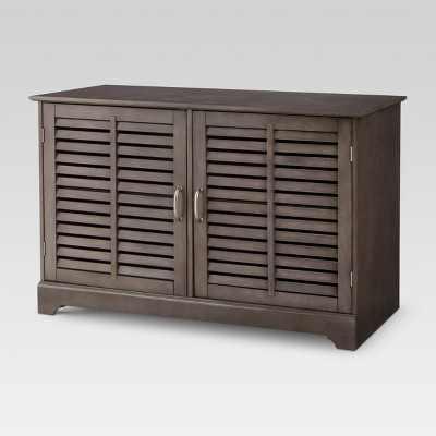 Shuttered Door TV Stand Dark Gray - Threshold™