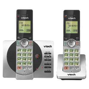 VTech CS6929-2 DECT 6.0 Expandable Cordless Phone System with Answering Machine, 2 Handsets - Silver