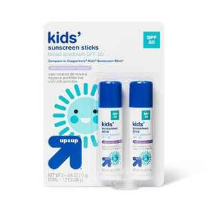 Kids Sunscreen Sticks Twin Pack - SPF 55 - 1.2oz - up & up™