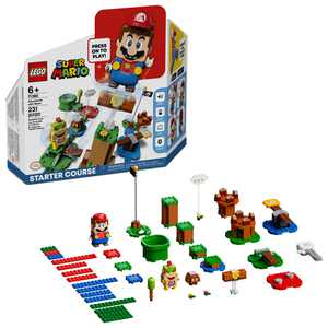 LEGO Super Mario Adventures with Mario Starter Course 71360 Building Toy, Collectible, Creative Gift Toy for Kids (231 Pieces)