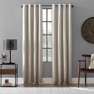 Archaeo Linen Blend Blackout Grommet Top Curtain