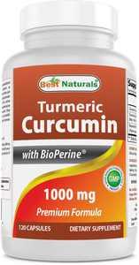 Best Naturals Turmeric Curcumin 1000 mg Bioperine 5 mg 120 Capsule