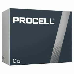 Procell by Duracell Alkaline C Batteries PC1400 12/Box