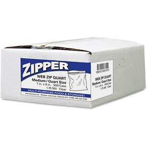 Handi-Bag Pinch & Seal Zipper Storage Bags, Quart, 500 Ct