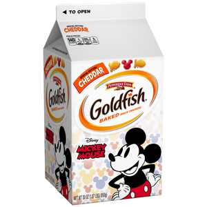 Pepperidge Farm Goldfish Special Edition Disney Mickey Mouse Cheddar Crackers, 30 oz. Carton