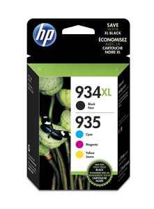 HP Inc. 934XL Black High-Yield & 935 Cyan Magenta Yellow Ink Cartridges 1981033