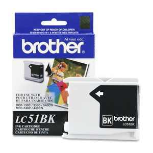 Brother Genuine OEM LC51BK (LC-51BK) Black Inkjet Cartridge (500 YLD)