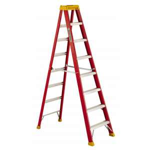 Louisville Ladder L-3016-08 8 ft. Fiberglass Step Ladder, Type IA, 300 lbs. Load Capacity