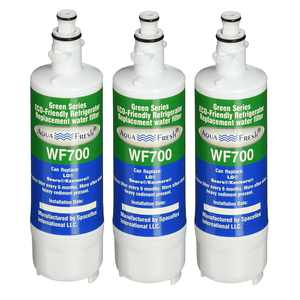 Replacement Water Filter for LG LT700P / ADQ36006101 Refrigerator Water Filter by Aqua Fresh (3-Pack)