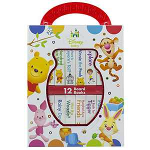 Disney Baby - Winnie the Pooh - My First Library Board Book Block 12-Book Set - First Words, Counting, and More! - PI Kids