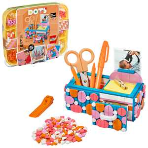 LEGO DOTS Desk Organizer 41907 DIY Craft Decorations Kit, Building Toy, Gift for Kids (405 Pieces)