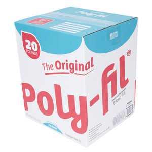 Poly-Fil Premium 100% Polyester Fiberfill, 20 lb. Box