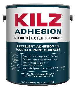KILZ Adhesion High-Bonding Interior/Exterior Latex Primer/Sealer, White