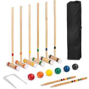 """Best Choice Products 6-Player 32"""" Wood Croquet Set"""