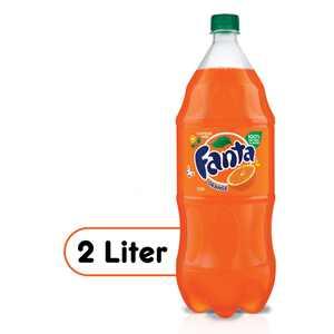 Fanta Orange Soda Fruit Flavored Soft Drink, 2 Liters